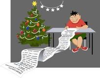 Список целей рождества из контроля иллюстрация вектора