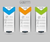 Список цен на товары, 3 тарифа Установите тарифы интерфейс для места Стоковые Фото