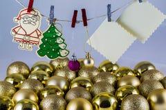 Список целей Санта Клауса Стоковые Фотографии RF