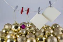 Список целей Санта Клауса Стоковое Изображение RF