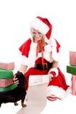 список santa хелпера собаки Стоковое Изображение RF