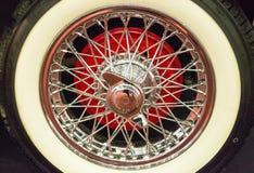 Спицы стали колеса автомобиля Стоковое Изображение