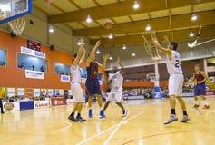 Спичка баскетбола Барселона против Joventut Стоковые Фото