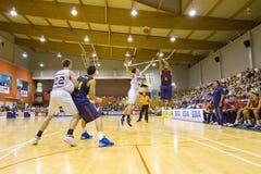 Спичка баскетбола Барселона против Joventut Стоковые Изображения RF