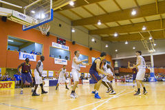 Спичка баскетбола Барселона против Joventut Стоковые Изображения