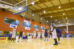 Спичка баскетбола Барселона против Joventut Стоковое Фото