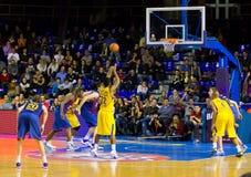 Спичка баскетбола Барселона против Maccabi стоковые фото