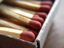 Спичка в комплекте коробки Стоковое Фото