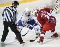 спичка льда хоккея Стоковые Изображения