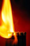 спичка пожара Стоковые Фото