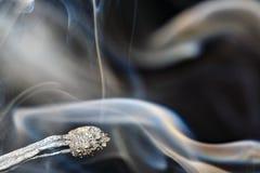 Спичка и дым Стоковые Изображения