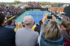 Спичка Украина тенниса FedCup против Аргентины стоковые изображения rf