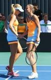 Спичка Украина тенниса FedCup против Аргентины Стоковое Изображение RF