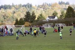 Спичка футбола малыша Стоковая Фотография