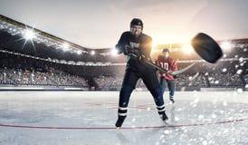 Спичка хоккея на катке Мультимедиа Стоковое фото RF