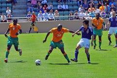 спичка цвета слоновой кости японии футбола свободного полета Стоковые Изображения RF