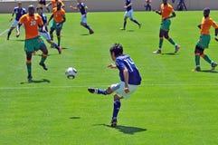 спичка цвета слоновой кости японии футбола свободного полета Стоковые Изображения