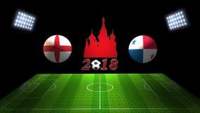 Спичка 2018 чашки футбола мира в России: Англия против Панама, в 3 бесплатная иллюстрация