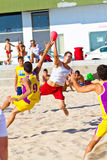 Спичка 19th лиги гандбола пляжа, Кадис Стоковое Изображение RF