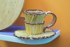 спички и горение спички Чашка спички Стекло спички Стоковое Фото