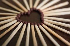 спички сердца Стоковые Фотографии RF