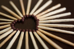 спички сердца Стоковые Фото