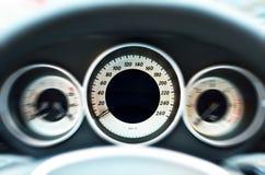 Детали спидометра автомобиля Стоковая Фотография