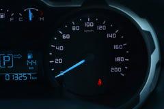 Спидометр приборной панели автомобиля Стоковые Изображения RF
