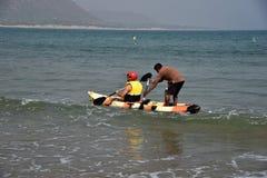 Сплавляться на пляже Rushikonda в Visakhapatnam стоковое изображение rf