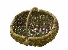 сплетенная белизна корзины пустая handmade изолированная Стоковое Изображение RF