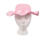 сплетенная сторновка шлема розовая Стоковые Изображения