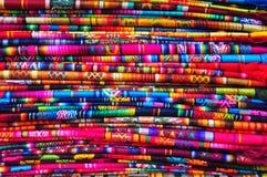 сплетенное традиционное ткани Стоковые Изображения