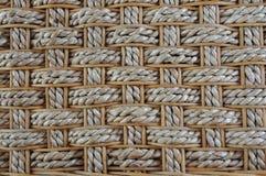 сплетенный ротанг мозаики предпосылки bamboo Стоковые Фото