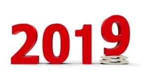 2018-2019 сплющенный Стоковое Изображение RF