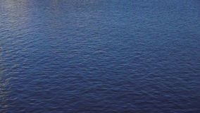Спокойная голубая завалка рамки поверхности океана видеоматериал