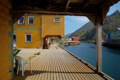 Спокойная деревня Nyksund в летнем времени внутри vesteraalen, северная Норвегия Стоковые Фото