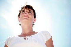 спокойная женщина стоковая фотография rf