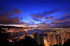 Спокойная ночь Гонконг Стоковые Изображения RF