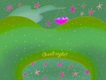 спокойная ночь карточки Стоковое Фото