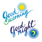 Спокойная ночь доброго утра Стоковое Изображение RF