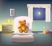 спокойная ночь teddybear Стоковая Фотография