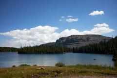 Спокойное озеро вечера в глуши плоских верхних частей Стоковые Фотографии RF
