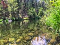 Спокойное река в национальном парке Yosemite Стоковая Фотография
