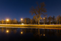 Спокойное nightscape канала Стоковое Изображение RF
