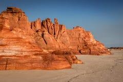 Спокойные красные скалы в западной Австралии стоковые фото