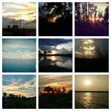 Спокойные небеса и их отражение стоковое фото rf