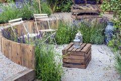 Спокойный ландшафт сада Стоковое Изображение RF