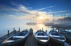 Спокойный восход солнца Стоковые Изображения