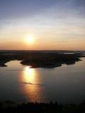 спокойный заход солнца 2 стоковые фотографии rf