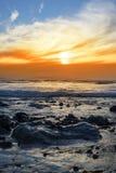 Спокойный скалистый beal пляж Стоковое фото RF